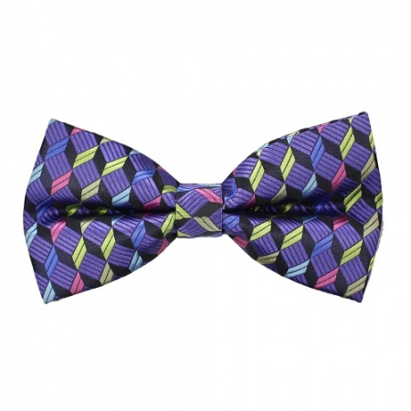 Purple Cubes Bow Tie