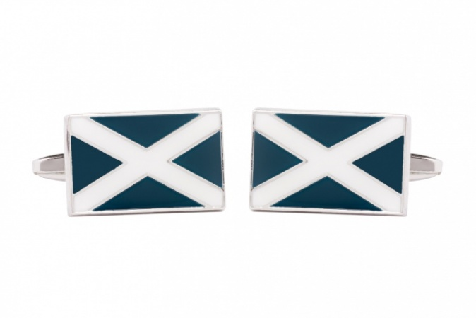 Scottish Saltire Flag Cufflinks
