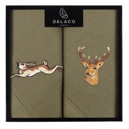 Stag and Hare Handkerchiefs