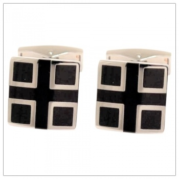 Black and Silver Cufflinks for Shirts