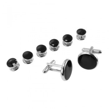 Black Dress Shirt Studs and Cufflinks