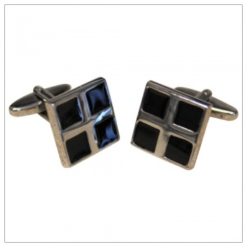 Black Square Cufflinks for Shirts