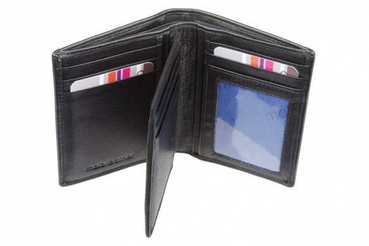 Mala Black Leather Origin Bi Fold Shirt Pocket Wallet With RFID Protection Style 172 5