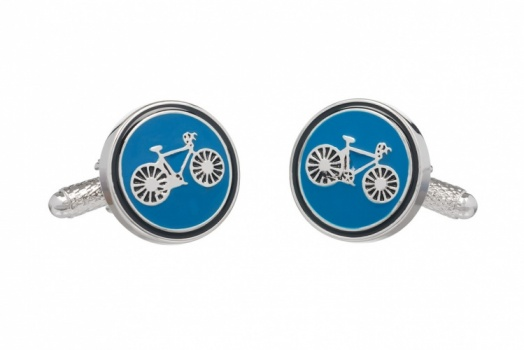 Blue Bicycle Cufflinks