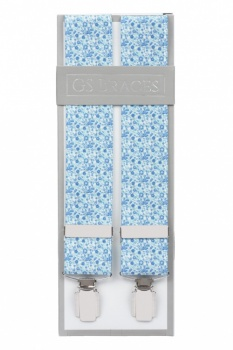 Blue Floral Trouser Braces