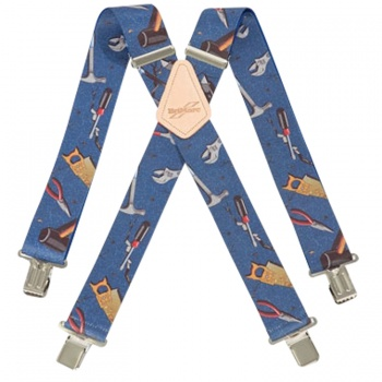 Blue Hand Tool Work Trouser Braces