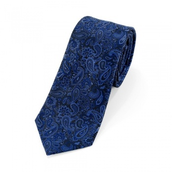 Blue Paisley Tie and White Handkerchiefs Bundle