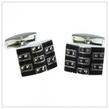 Classic Black Dress Shirt Cufflinks