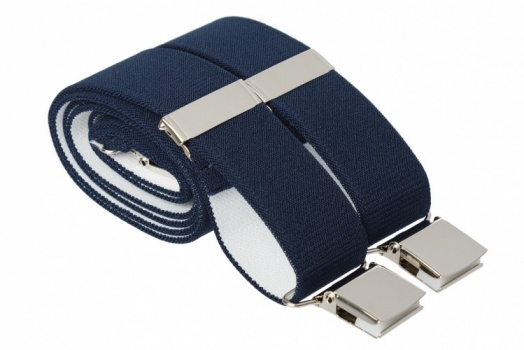 Dark Midnight Blue Heavy Duty Trouser Braces With Large Strong Clips