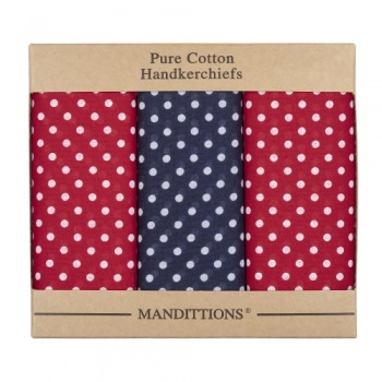 Extra Large Red and Blue Spotted Hankies