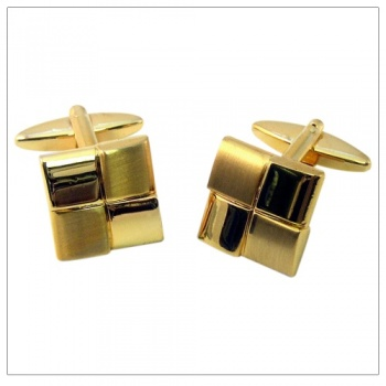 Gold Square Shirt Cufflinks