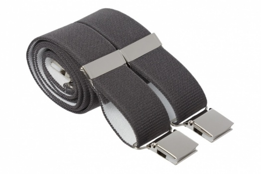 Grey Heavy Duty Braces for Trousers With Large Strong Clips