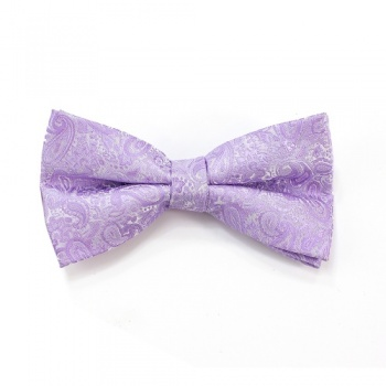 Lilac Paisley Bow Tie