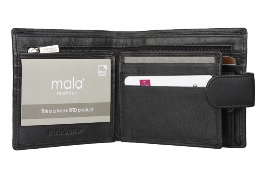 Black Mala Leather Origin Bi Fold Tab Wallet Style 127 5