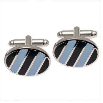 Navy and Light Blue Cufflinks