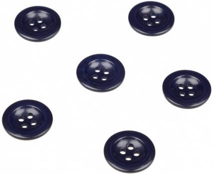 Pack of 6 Navy Blue Trouser Brace Buttons