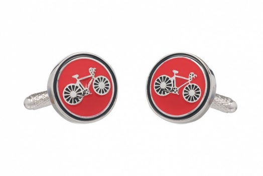Red Bicycle Cufflinks