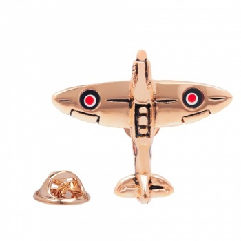 Spitfire Lapel Pin Rose Gold