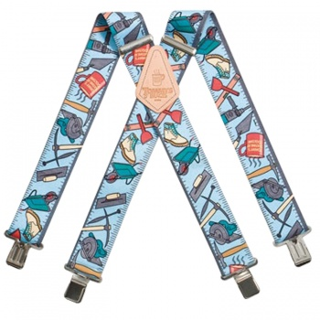 Tommy Walsh Work Trouser Braces with Builders Tools Designs