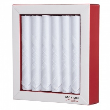 White Cotton Mercerized Handkerchiefs