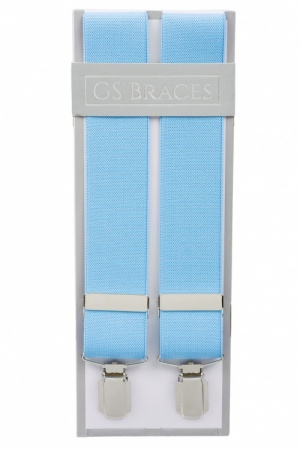 Y Clip Braces Light Blue